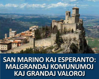 85ème Congrès Italien d'Espéranto, à Saint-Marin (Italie), 18-25 août 2018