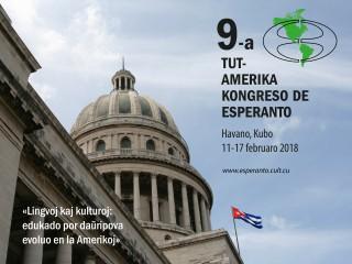 9ème Congrès d'Espéranto des Amériques, La Havane, Cuba, 11-17 février 2018