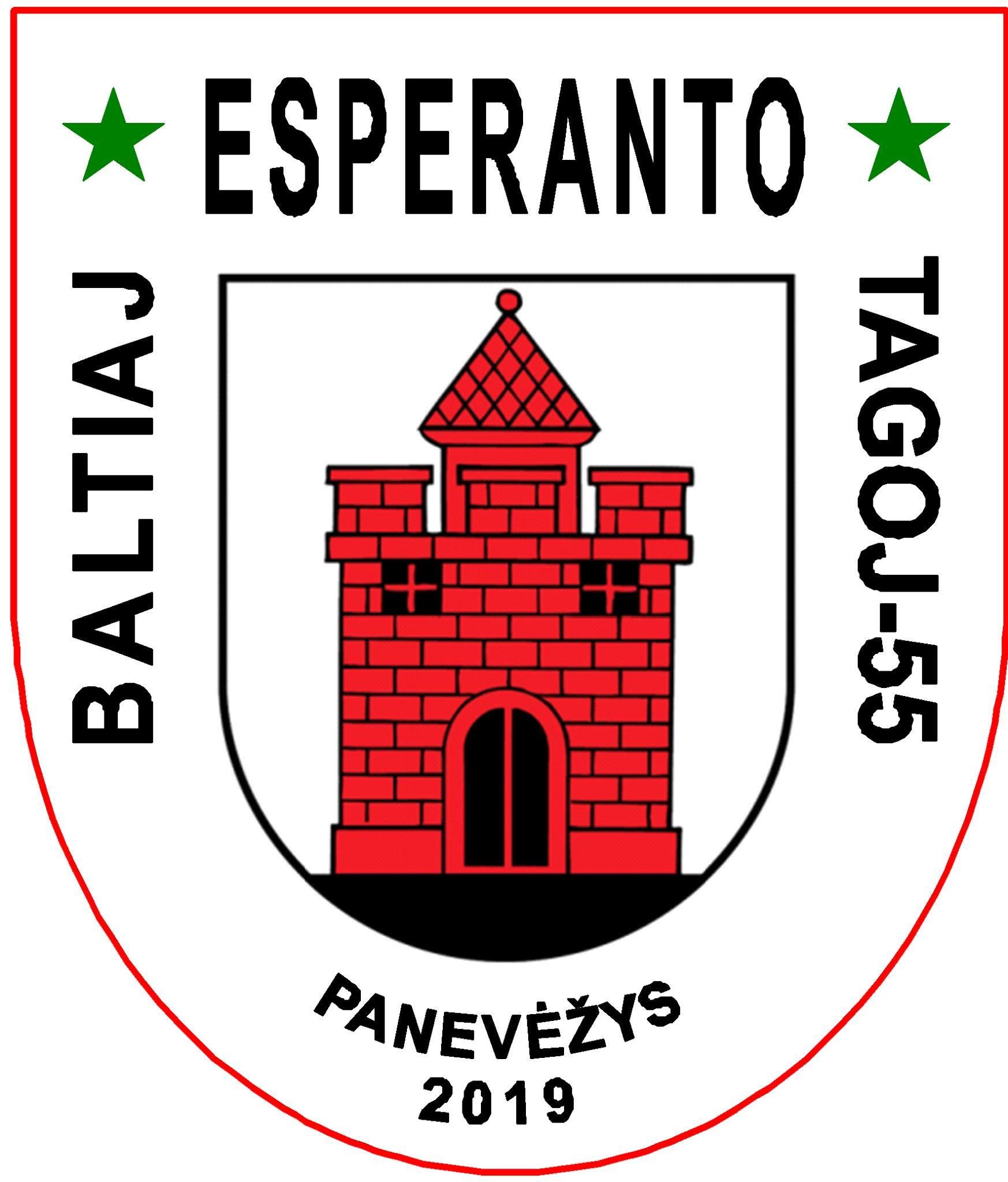 55èmes Journées d'Espéranto de la Baltique, à Panevėžys (Lituanie), 6-14 juillet 2019
