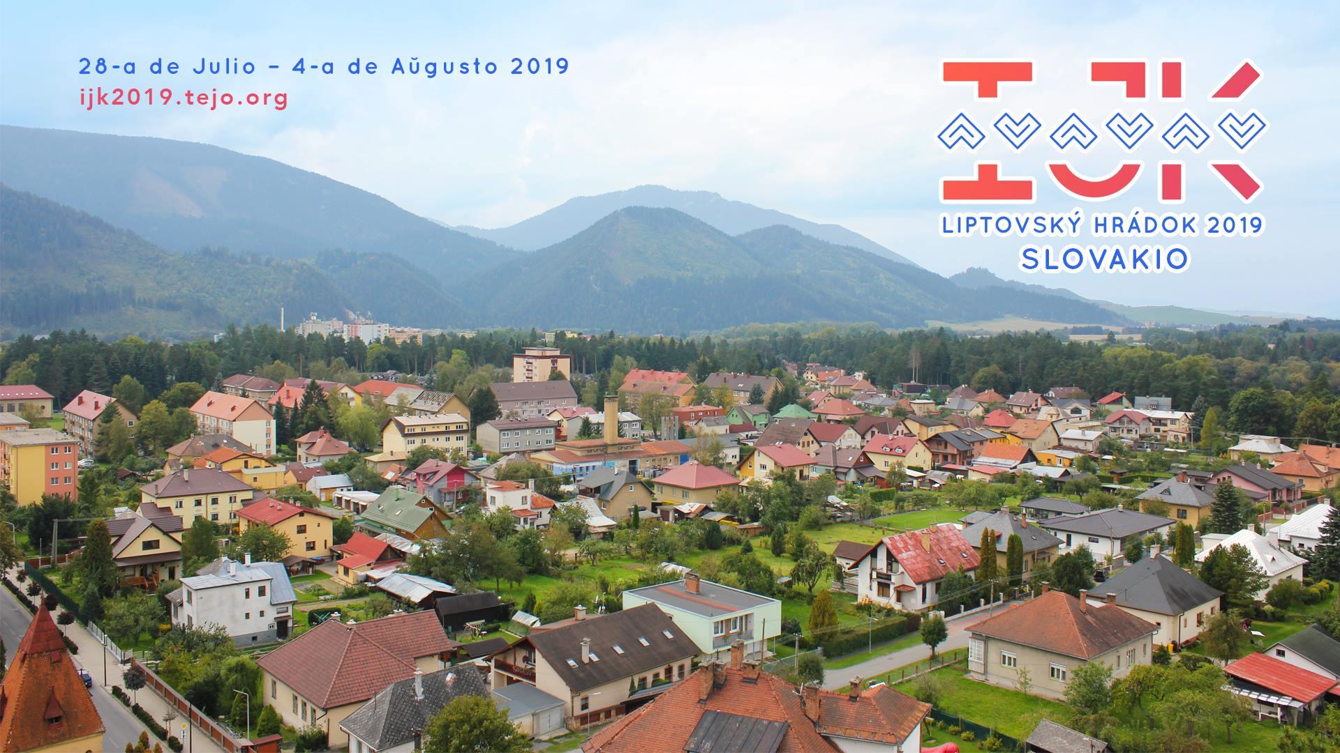 75ème Congrès International des Jeunes Espérantophones à Liptovský Hrádok (Slovaquie), du 28 juillet au 4 août 2019