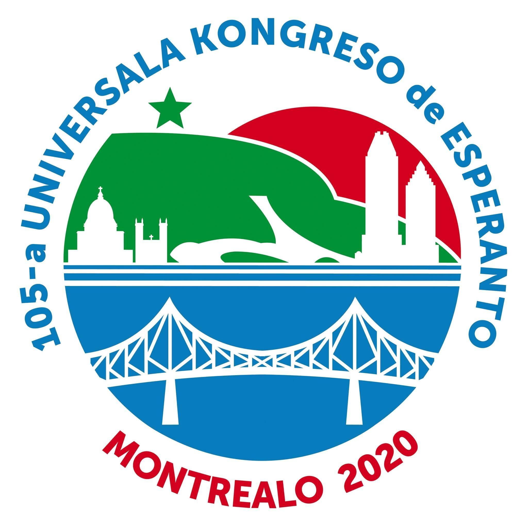 105ème Congrès mondial d'espéranto, 01-08 août 2020, à Montréal, Canada