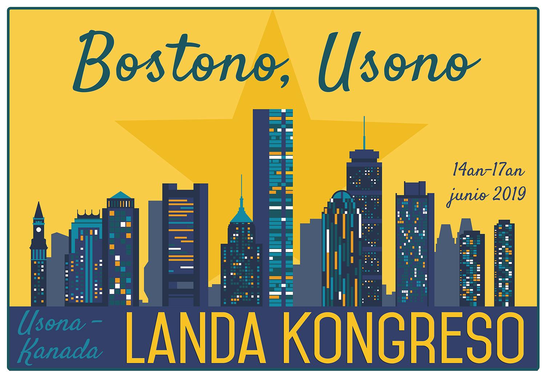 Congrès Canado-États-Unien d'Espéranto, à Boston, Massachusetts (États-Unis), du 14 au 17 juin 2019